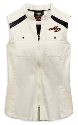 96809-19Vw Harley-Davidson Women's Embroidered Zip Front  Shirt ** New**