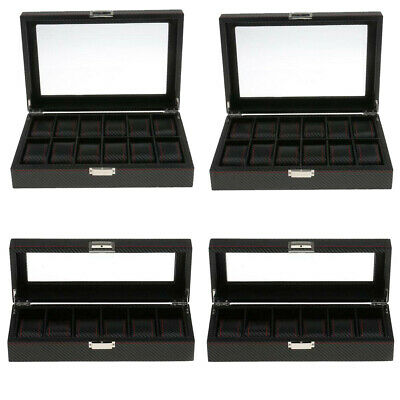 FT- 10 12 Slot /Grid Watch Box Detachable Jewelry Display Container Storage Hold