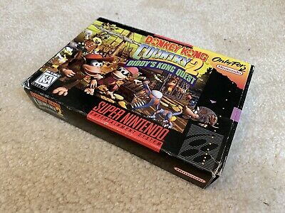 Donkey Kong Country 2 Super Nintendo SNES CIB Complete But No Manual Authentic