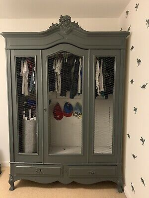 Beautiful Antique French 3 Door Wardrobe