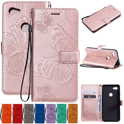 For Google Pixel 3a / 3a XL Phone Case Butterfly Magnetic Leather Wallet Cover
