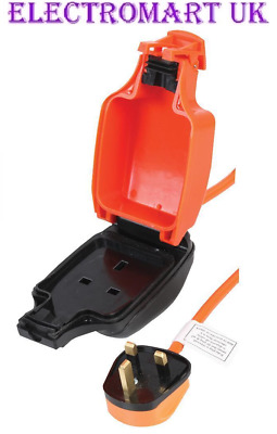 13A Heavy Duty Orange Mains Extension Cable Socket Outdoor Garden Ip54 10M