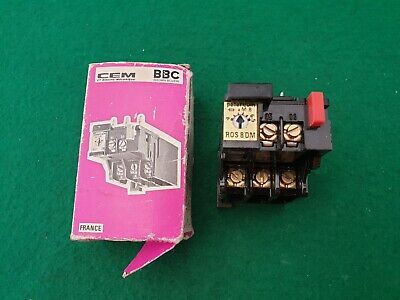 ROS 8DM BBC Brown Boveri Overload Relay 4 - 6.5 Amp