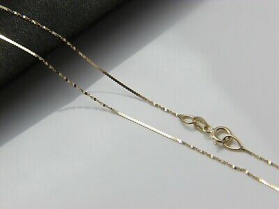 Solid 10K Yellow Gold Twisted Serpentine Necklace
