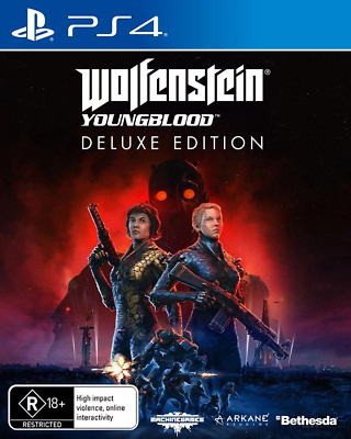 Wolfenstein Youngblood Deluxe Edition With Pre-Order Bonus DLC PS4 Game NEW PREO