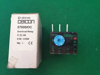 57500/DC Crabtree Ceicon Overload Relay 0.38 - 0.63 Amp