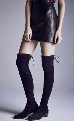 ee68f0ad0 NEW Stuart Weitzman Women's Midland Over Knee Boots Tall Black Suede SIZE  US 8 M