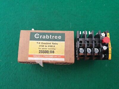 25500/DB Crabtree T-6 Overload Relay 0.54 - 0.80 Amp