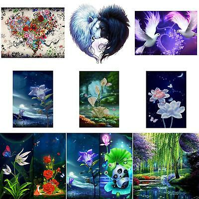 FT- Full Drill DIY 5D Diamond Painting Embroidery Cross Crafts Stitch Kit Decor