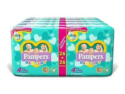 Pampers Baby Dry Duo Maxi, 208 Pannolini, Taglia 4 - Maxi (7-18 kg) 4 -