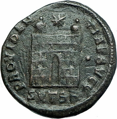 CONSTANTINE I the GREAT 326AD Authentic Ancient Roman Coin Camp gate i78743