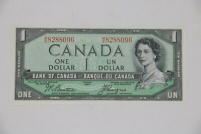 Bank of Canada 1954 $1.00 One Dollar Devil's Face Note BC-29b  Unc