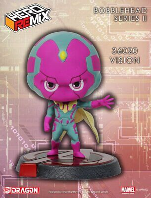 "Marvel Super Hero Remix Bobble Head Series II Vision Avengers 5"" Cute figure"