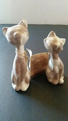 Vintage Mt St Helens Ash Ware Kitty Cats Signed LD 1980