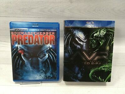 Predator~Alien vs. Predator~Alien vs. Predator: Requiem (Blu-ray) Lot 3 Movies