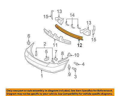Rear Back Glass Upper Reveal Molding Seal Strip OEM For 06-11 Accent SEDAN ONLY