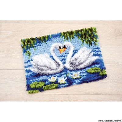 Vervaco Latch hook rug kit 2 Swans, DIY