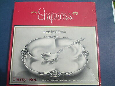 Vintage International Silver #248 Empress Silverplate Party Set Bon-Bon & Spoon
