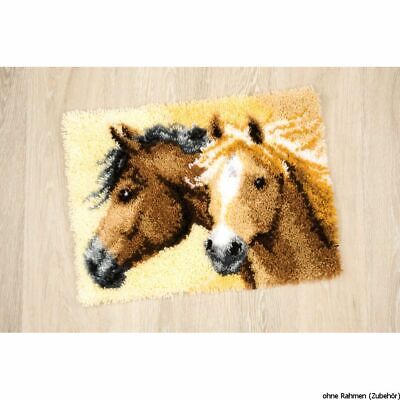 Vervaco Latch hook rug kit Impetuous horses, DIY