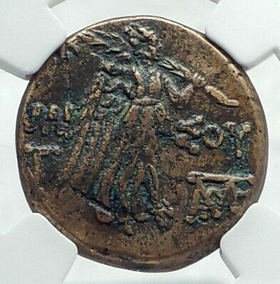 AMISOS PONTUS 105BC Mithradates VI the Great - Gorgon Nike Greek Coin NGC i78718