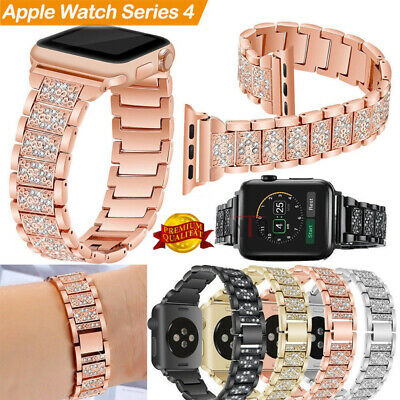 For Apple Watch Series 4 44mm 2018 Stainless Steel Bracelet iWatch Band Strap