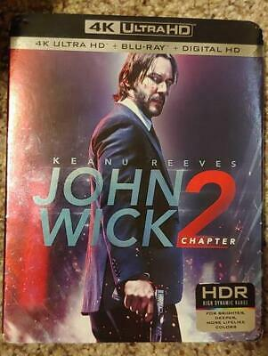 John Wick Chapter 2 (4k Ultra HD, Blu-ray, 2017) NEW with slipcover!