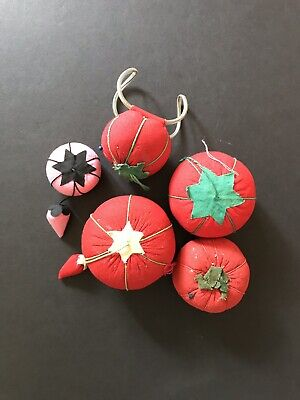 Vintage Tomato Strawberry Pin Cushion Lot One Wrist