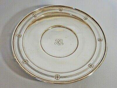 Antique American Sterling Solid Silver Dish Bowl Plate Dominick & Haff New York