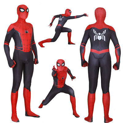 2019 Spider Man Far From Home Peter Parker Adult Kids Costume Spiderman Bodysuit