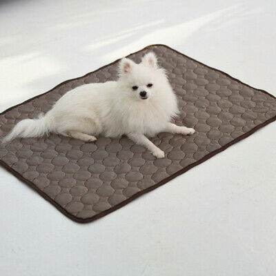 Pet Cat Dog Cooling Mat Non-Toxic Summer Cool Bed Pad Blankets Cushion Indoor