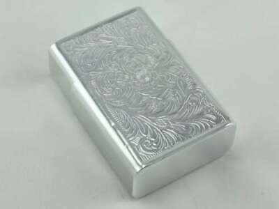 Vintage Aluminum King Cigarette Pack Case Holder Etched Light Weight Silver Tone