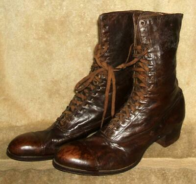 """Late 1800's Woman's Front Laced """"Balmoral Boot"""" Shoes"""