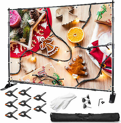 10Ft Photograph Adjustable Background Support Stand Photo Backdrop Crossbar Kit