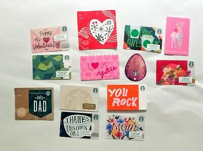 Starbucks Victoria's Secret Bath & Body Works 2018 Grad Dog Gift Card LOT $0 #1