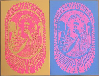 Special: Pair Psychedelic Posters Love-In in San Francisco 1967 Originals
