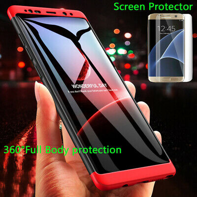 Fr Samsung Galaxy S7 8 9 Plus Note 8 9 360°Full protection Shockproof Cover Case