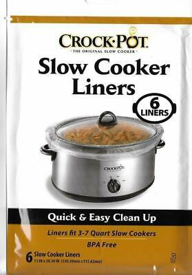 GENUINE Crock-pot Liners slow cooker Liners 60 PACK LOT 3-7 QT WHOLESALE LOT NEW