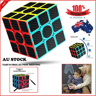 AU 3x3x3 Smooth Speed Magic Rubiks Cube Puzzle Easy Twist Educational Gift Toys
