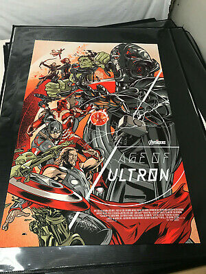 Avengers Age of Ultron Mondo Print Poster By Martin Ansin SDCC MINT LE /450