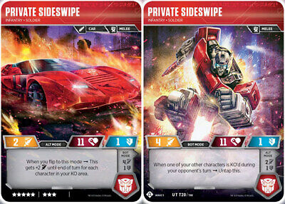Transformers TCG ** 1x Private Sideswipe // Infantry Soldier ** NM-Mint