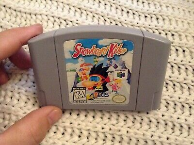 nintendo 64 n64 game Snowboard Kids tested authentic atlus