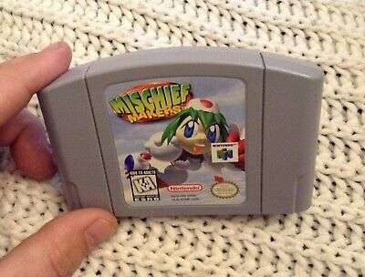 nintendo 64 n64 game mischief makers tested authentic