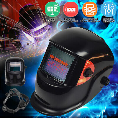 Solar Power Auto Darkening Welding Helmet Arc Weld Grinding Protect Mask Lens