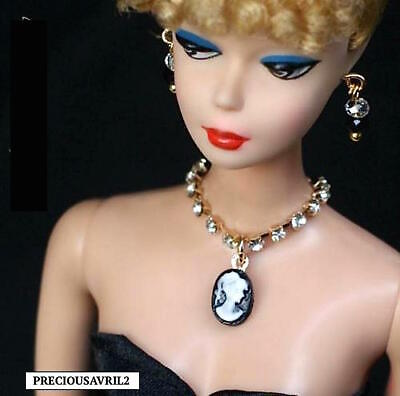 New Barbie Doll clothes Jewellery Jewelry necklace earrings evening wedding
