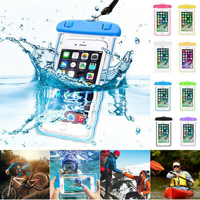 Fluorescent Underwater Waterproof Case Cover Dry Bag Pouch For All Mobile Phones
