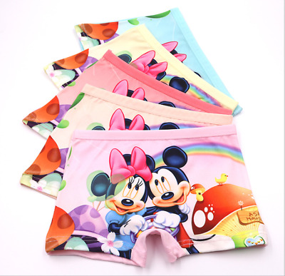 wholesale Girl Boxer Brief Underwear Mickey Mouse Minnie Cartoon Panties New