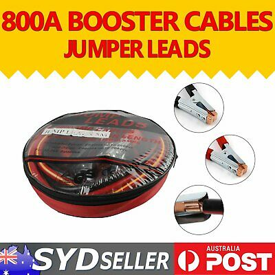 H/Duty 800AMP Booster Jumper Leads Cable Jump 5M LONG Surge Protect Auto Caravan