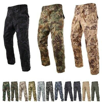 Mens Airsoft TACTICAL Military Army Camo Combat Cargo Trousers Pants Hunting BDU
