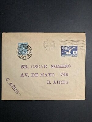Uruguay Flight Cover Montevideo to Buenos Aires Junkers April 14, 1926
