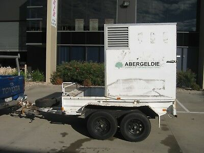 Tandem Trailer, Specialized Enclosed Box With Ramp, Front Bin & Toolbox